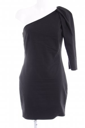 Mango Suit One-Shoulder-Kleid schwarz Elegant