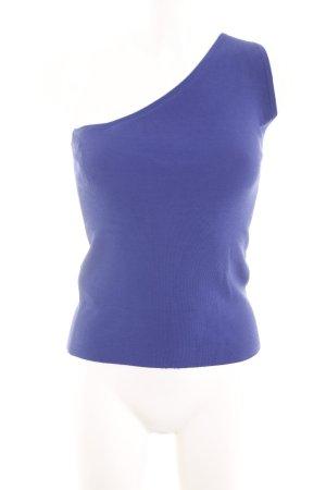 Mango Suit Eénschoudertop blauw casual uitstraling