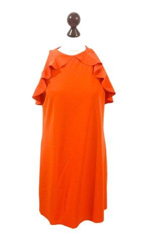 Mango Suit orangenes Businesskleid, Partykleid Gr. M Rüschen