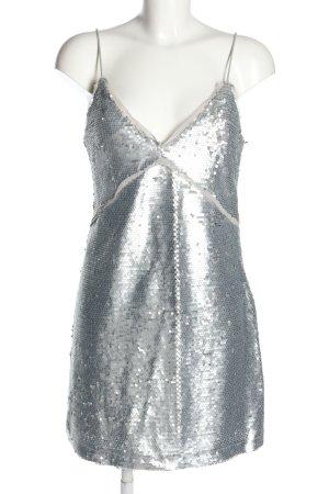 Mango Suit Jurk met pailletten zilver elegant