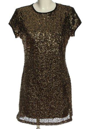 Mango Suit Pailettenkleid goldfarben Elegant