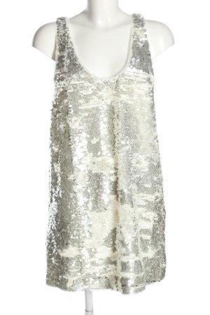 Mango Suit Jurk met pailletten zilver-wolwit elegant