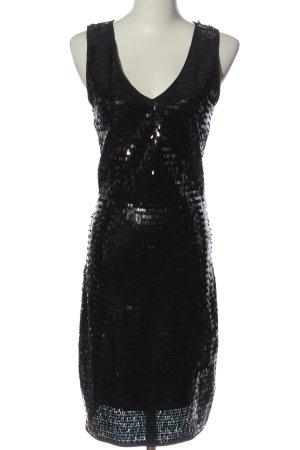 Mango Suit Pailettenkleid schwarz Streifenmuster Elegant