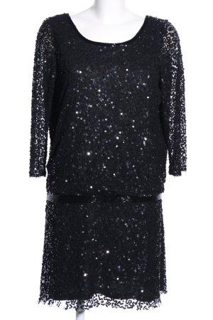 Mango Suit Robe à paillettes noir élégant