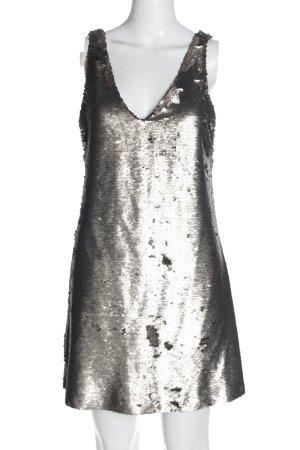 Mango Suit Robe à paillettes argenté élégant