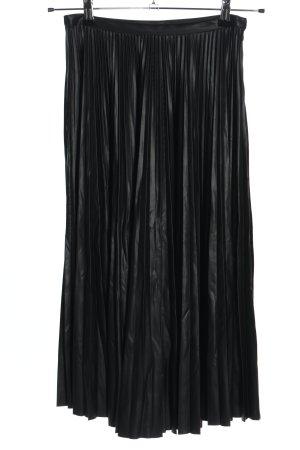 Mango Suit Pleated Skirt black casual look