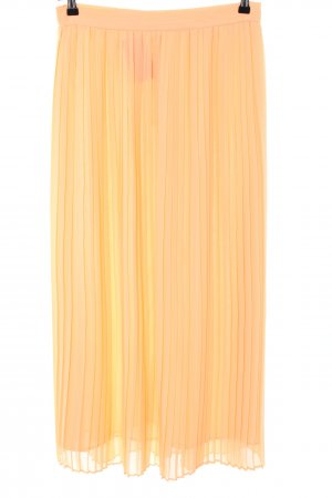 Mango Suit Pleated Skirt primrose-light orange