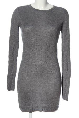 Mango Suit Robe pull gris clair moucheté style décontracté
