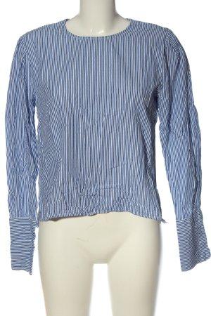 Mango Suit Ringelshirt blau-weiß Streifenmuster Casual-Look