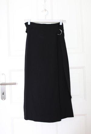 Mango Wraparound Skirt black