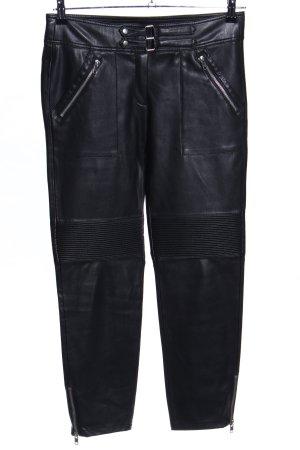 Mango Suit Röhrenhose schwarz Glanz-Optik