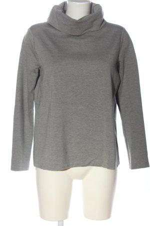 Mango Suit Camisa de cuello de tortuga gris claro moteado look casual
