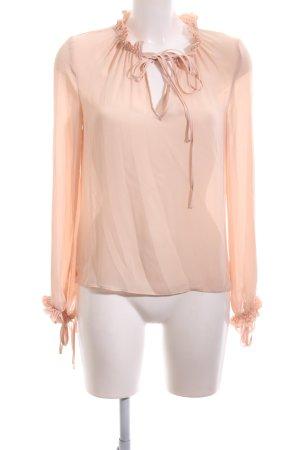 Mango Suit Rüschen-Bluse nude Business-Look