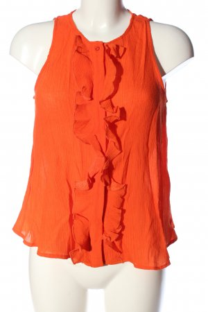 Mango Suit Top met franjes licht Oranje casual uitstraling
