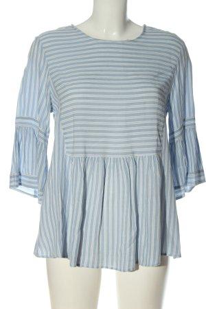 Mango Suit Camicetta da notte blu-bianco motivo a righe stile casual