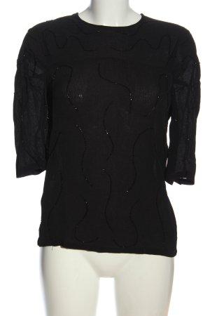 Mango Suit Camicetta da notte nero stile casual