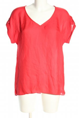 Mango Suit Schlupf-Bluse rot Casual-Look