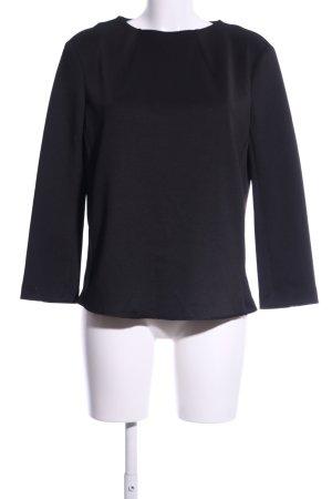 Mango Suit Schlupf-Bluse schwarz Business-Look