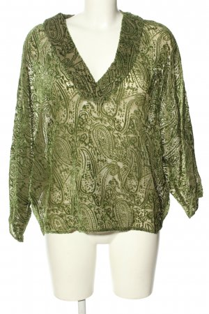 Mango Suit Schlupf-Bluse khaki Mustermix Casual-Look