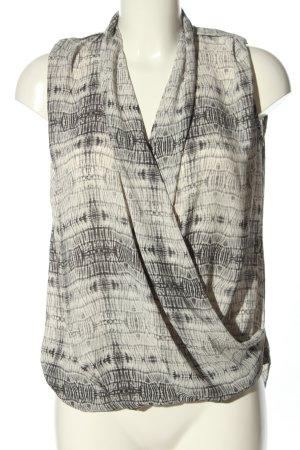 Mango Suit Camicetta da notte grigio chiaro-bianco sporco stampa integrale