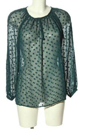 Mango Suit Camicetta da notte verde motivo a pallini elegante