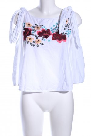 Mango Suit Slip-over Blouse flower pattern casual look