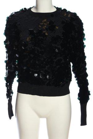 Mango Suit Schlupf-Bluse schwarz Casual-Look