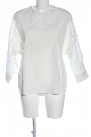 Mango Suit Schlupf-Bluse wollweiß Casual-Look