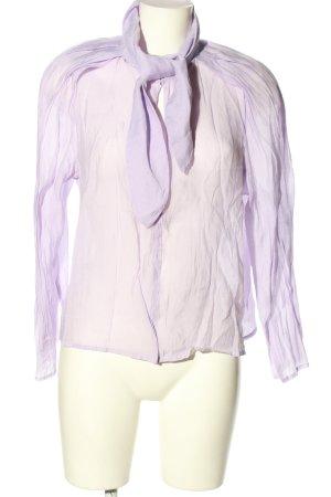 Mango Suit Blouse avec noeuds violet style décontracté