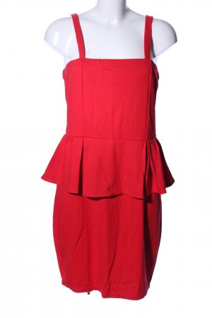 Mango Suit Peplum Dress red elegant