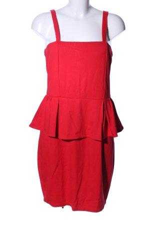 Mango Suit Robe péplum rouge élégant