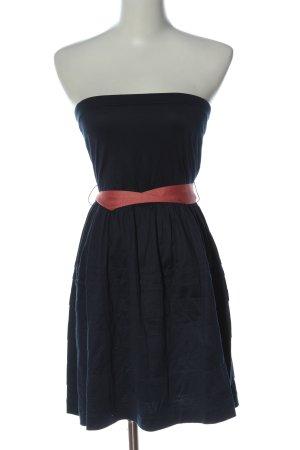 Mango Suit schulterfreies Kleid blau-pink Elegant