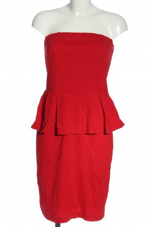Mango Suit schulterfreies Kleid rot Elegant