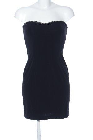 Mango Suit schulterfreies Kleid schwarz Elegant