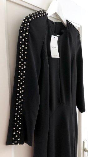Mango Suit Schwarzes Kleid mit Perlen Gr. S mit Etikett