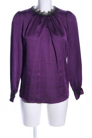 Mango Suit Seidenbluse lila Business-Look