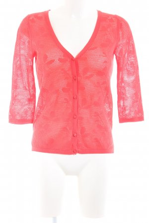 Mango Suit Shirtjacke rot abstraktes Muster Casual-Look