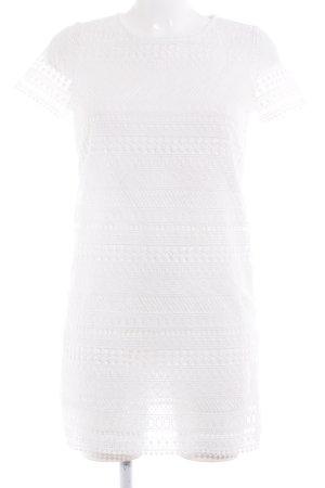 Mango Suit Shirtkleid weiß klassischer Stil