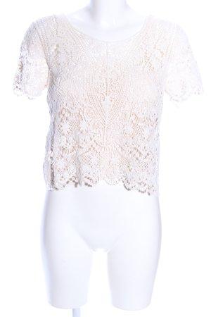Mango Suit Camicia a tunica bianco sporco elegante