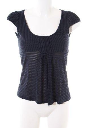 Mango Suit Shirttunika blau Streifenmuster Casual-Look