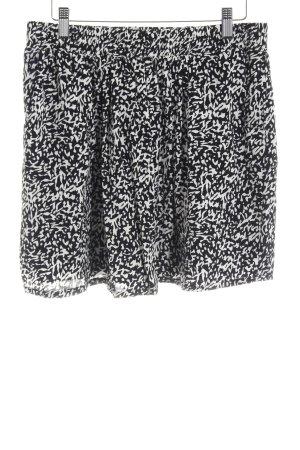 Mango Suit Skaterrock schwarz-weiß Casual-Look