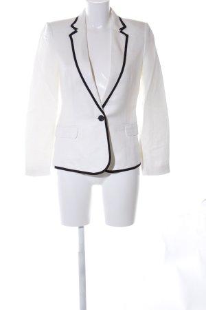 Mango Suit Smoking-Blazer weiß-schwarz Business-Look