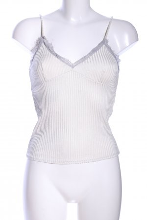 Mango Suit Top con bretelline bianco sporco motivo a righe stile casual