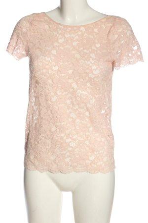 Mango Suit Spitzenbluse pink Casual-Look