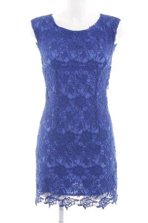 Mango Suit Spitzenkleid blau Blumenmuster Business-Look