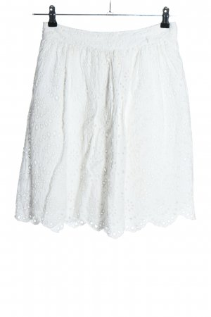 Mango Suit Lace Skirt white casual look