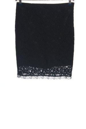 Mango Suit Kanten rok zwart casual uitstraling