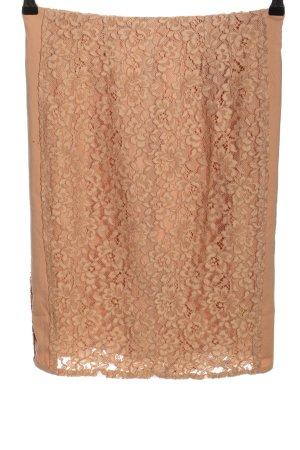 Mango Suit Koronkowa spódnica nude Wzór w kwiaty Elegancki