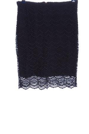 Mango Suit Falda de encaje negro elegante
