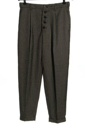 Mango Suit Haut-de-chausse noir-blanc cassé imprimé allover style d'affaires